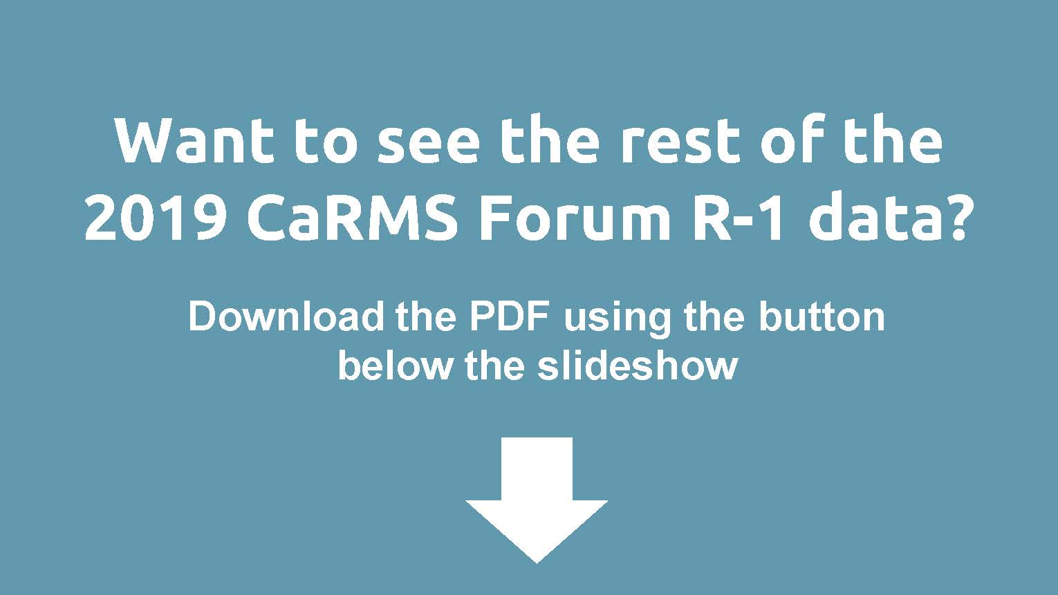 R-1 Data and reports - CaRMS